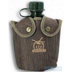 """Фляга для напитков пластиковая в чехле с мехом 1 л """"Экспедиция"""""""