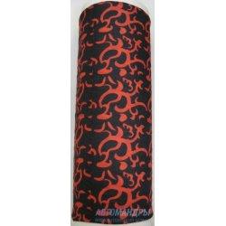 Многофункциональный головной убор летний Joy Baff Red&Black