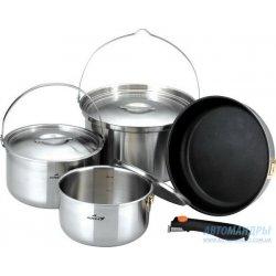Набор посуды Kovea All-3PLY Stainles Cookware (7~8) KKW-CW1105 из нержавеющей стали на 7-8 персон