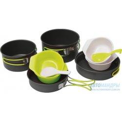 Набор посуды Pinguin Quadri из анодированного алюминия на 3-5 персон