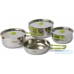 Набор посуды Pinguin Trio S из нержавеющей стали на 2-3 персоны