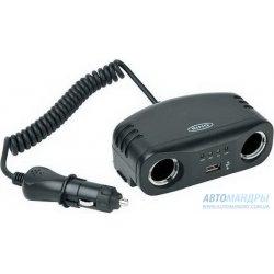 Разветвитель прикуривателя Ring Twin Multisocket with USB Port RMS7