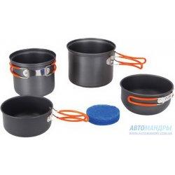 Набор посуды Tramp TRC-075 из анодированного алюминия на 1-2 персоны