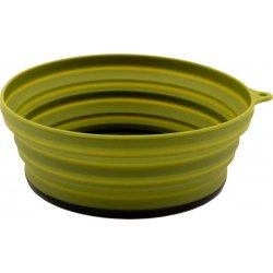 Тарелка складная силиконовая с пластиковым дном Tramp TRC-123 550 мл оливковая