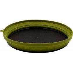 Тарелка плоская силиконовая с пластиковым дном Tramp TRC-124 1070 мл оливковая
