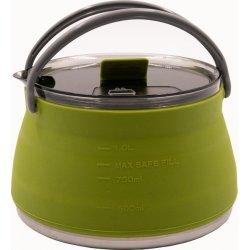 Чайник складной силиконовый с металлическим дном Tramp TRC-125 1 л оливковый
