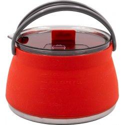Чайник складной силиконовый с металлическим дном Tramp TRC-125 1 л терракота
