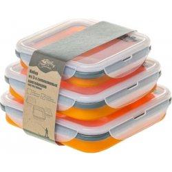 Набор контейнеров силиконовых складных Tramp TRC-089 оранжевый