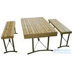 Набор мебели деревянный в кейсе Tramp TRF-017